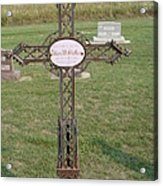 Gothic Grave Marker Acrylic Print