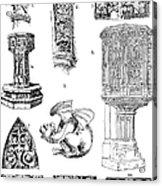 Gothic Ornament Acrylic Print