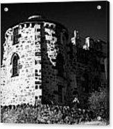 Gothic Tower Of The City Observatory Edinburgh Scotland Uk United Kingdom Acrylic Print