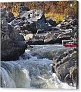 Grace Under Pressure On The Potomac River At Great Falls Park Acrylic Print