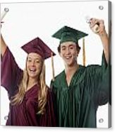 Graduation Couple V Acrylic Print
