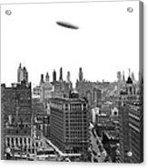 Graf Zeppelin Over Chicago Acrylic Print