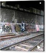 Graffiti - Under Over Railyard Acrylic Print