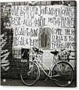 Graffiti And Bicycle Acrylic Print