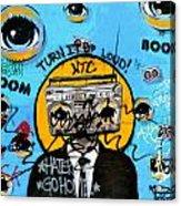 Graffiti Boombox  Man Acrylic Print