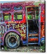 Graffiti Bus Acrylic Print
