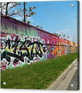Graffiti Lane Acrylic Print