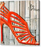 Graffiti Orange Cage Stilettos Acrylic Print