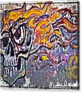 Graffiti Skull Acrylic Print