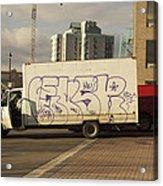 Graffiti Truck Acrylic Print