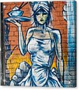 Grafitti Wall Acrylic Print