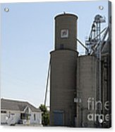 Grain Processing Facility In Shirley Illinois 3 Acrylic Print