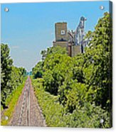 Grain Processing Facility In Shirley Illinois 4 Acrylic Print