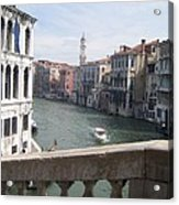 Grand Canal From A Bridge Acrylic Print