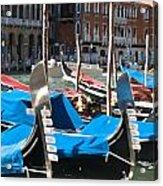 Grand Canal Gondolas Painting Acrylic Print