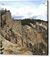 Grand Canyon Cliff In Yellowstone Acrylic Print