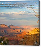 Grand Canyon Splendor - With Quote Acrylic Print