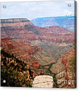 Grand Canyon With Smoke Acrylic Print by The Kepharts