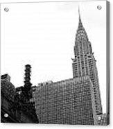 Grand Central-grand Hyatt-chrysler Acrylic Print by David Bearden