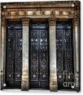 Grand Door - Leeds Town Hall Acrylic Print
