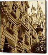 Grand Place Perspective Acrylic Print