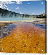 Grand Prismatic Spring IIi Acrylic Print