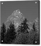Grand Teton Bw Acrylic Print