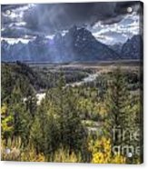 Grand Teton National Park And Snake River Acrylic Print