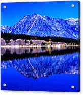 Grand Tetons In Blue Acrylic Print