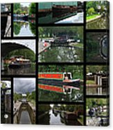 Grand Union Canal Collage Acrylic Print