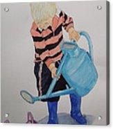 Granda Series-it Won't All Go In. Acrylic Print by Peter Edward Green