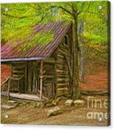 Granny's Little Cabin Acrylic Print
