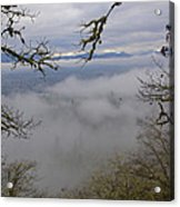 Grants Pass In The Fog Acrylic Print