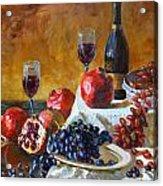 Grapes And Pomgranates Acrylic Print