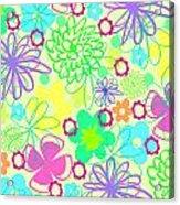 Graphic Flowers Acrylic Print