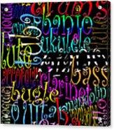 Graphic Music Acrylic Print