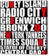 Graphic New York 3 Acrylic Print