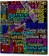Graphic Presidents Acrylic Print
