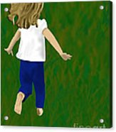 Grass Under My Feet Acrylic Print by Melissa Stinson-Borg