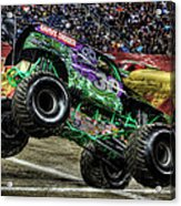 Grave Digger At Ford Field Detroit Mi Acrylic Print