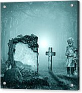 Graves In A Forest Acrylic Print by Jaroslaw Grudzinski
