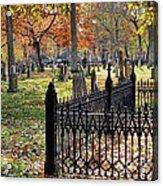 Gravestones Acrylic Print