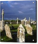 Graveyard, Clonmacnoise, County Offaly Acrylic Print