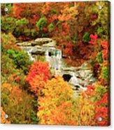 Graveyard Fields Lower Falls Acrylic Print