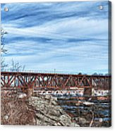 Great Falls Rr Bridge 10477c Acrylic Print