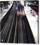 Great Neck Train Station Acrylic Print by Stephen Walker