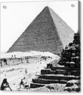 Great Pyramid Of Giza - Egypt - C 1926 Acrylic Print