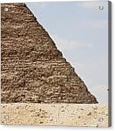 Great Pyramid Of Khufu Cheops And Camel Acrylic Print