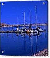 Great Salt Lake Antelope Island Marina Acrylic Print