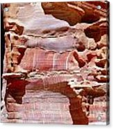 Great Wall Of Petra Jordan Acrylic Print by Eva Kaufman